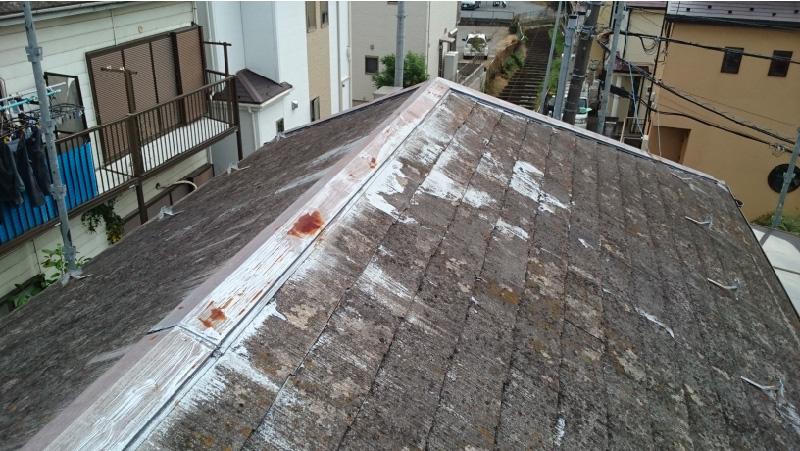 四街道市の屋根カバー工法リフォームの施工前の様子