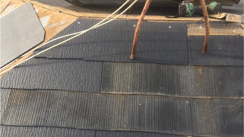 スレート瓦の葺き直し工事