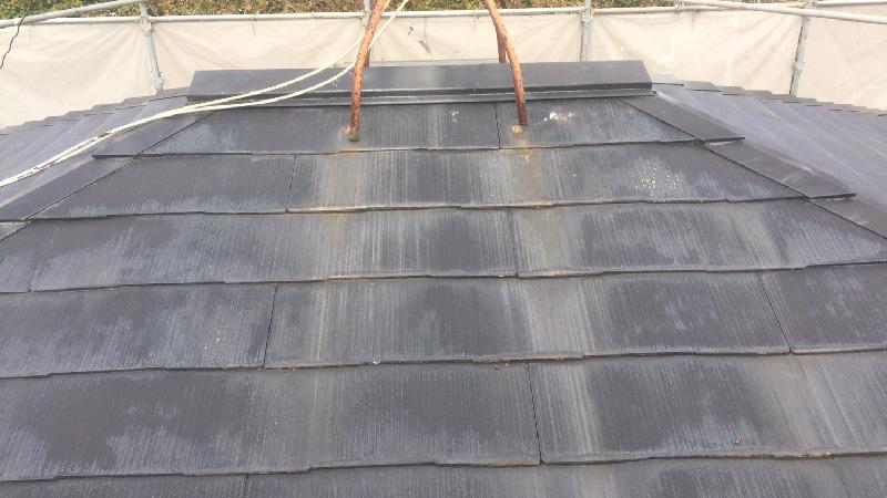 スレート屋根の施工前の状態