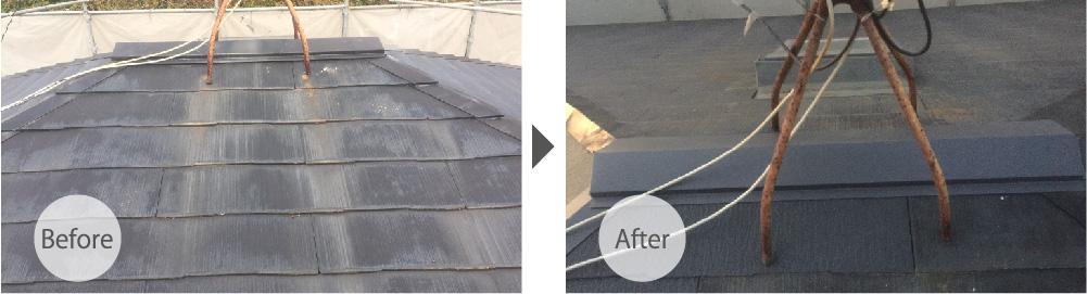 千葉市の屋根板金交換工事のビフォーアフター