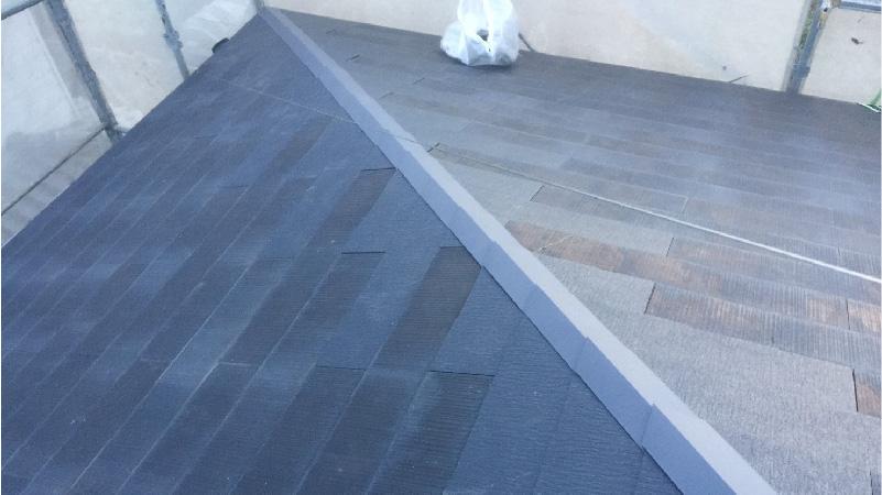 屋根の葺き直し工事後の状態
