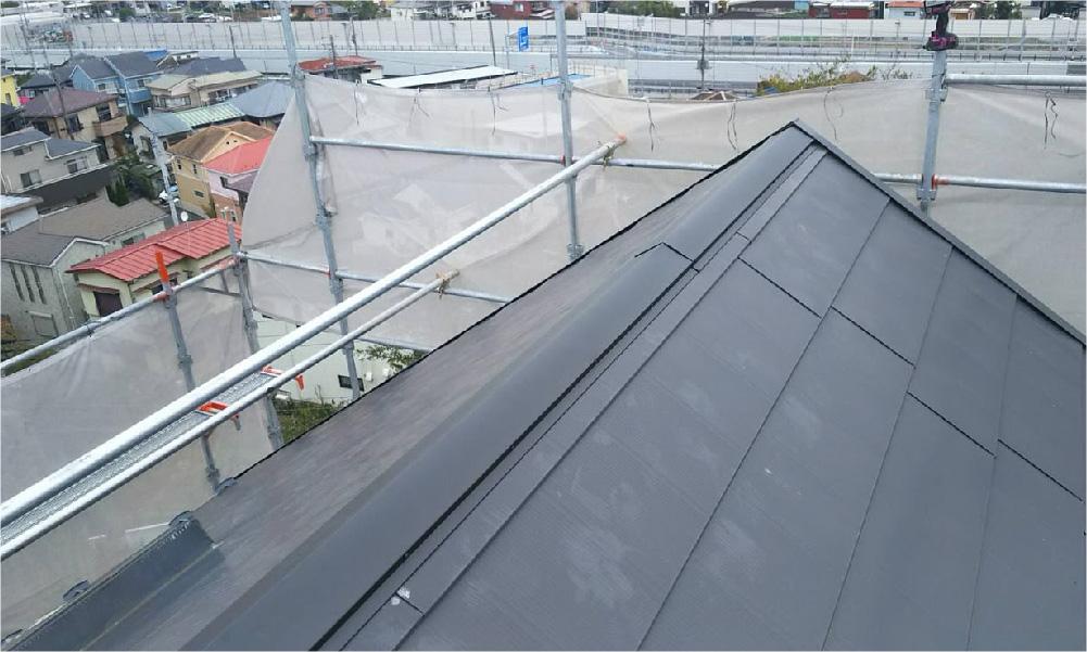 市川市の屋根板金交換工事