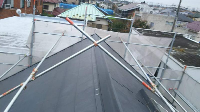 市川市の屋根板金交換工事後