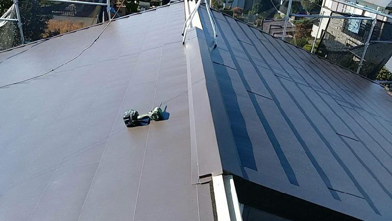 屋根本体の設置