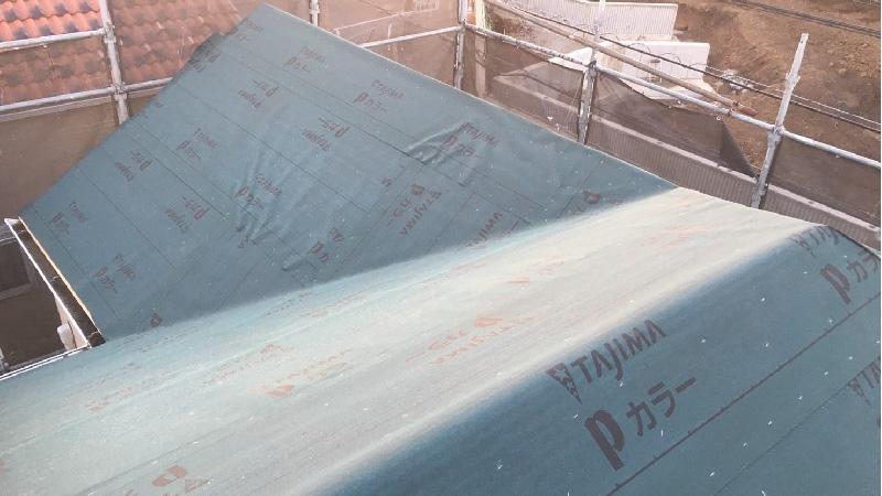 ルーフィング(防水シート)の設置