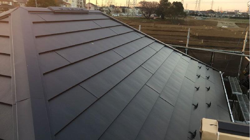 屋根葺き替え工事の施工後の状態