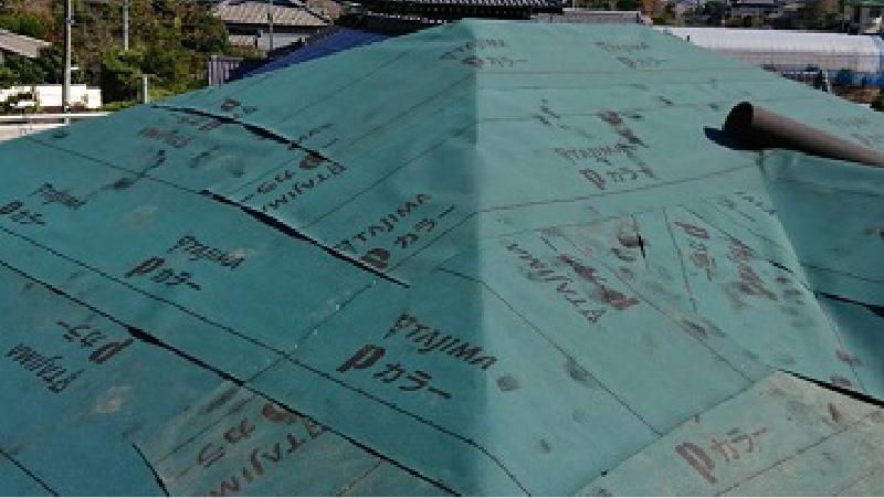 屋根葺き替え工事のルーフィング