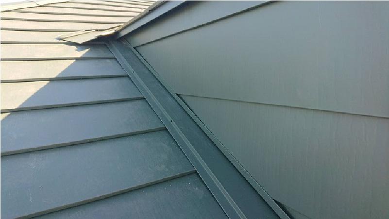 屋根葺き替え工事のドーマーの雨仕舞い