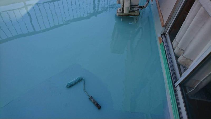 ベランダ防水工事ウレタン防水2回目