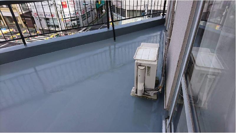 ベランダ防水工事ウレタン防水トップコート