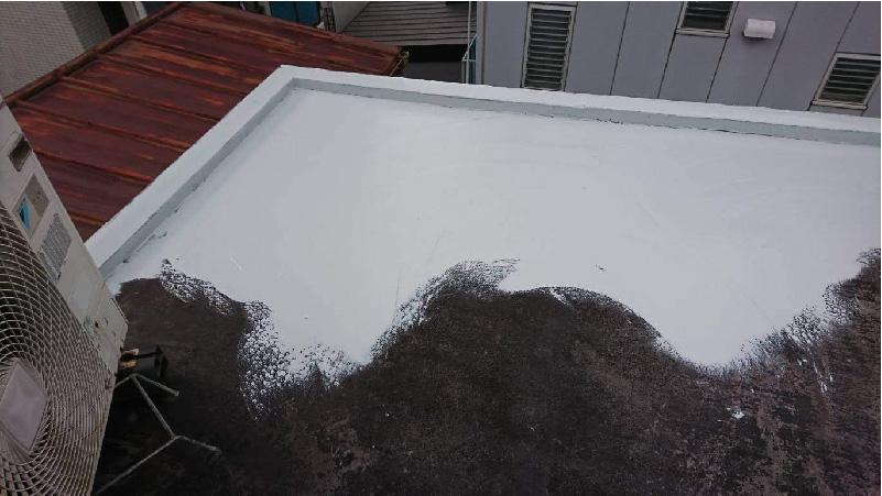 屋上の不陸調整