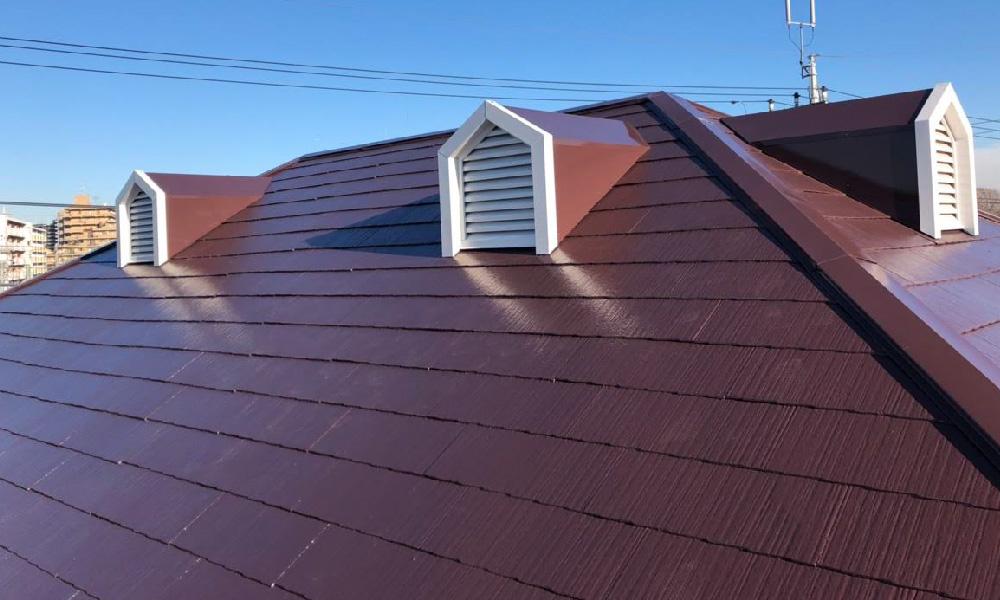 千葉市の屋根塗装・棟板金交換工事