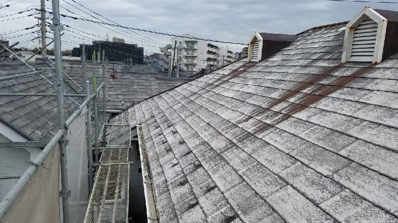 屋根の高圧ん洗浄後の様子