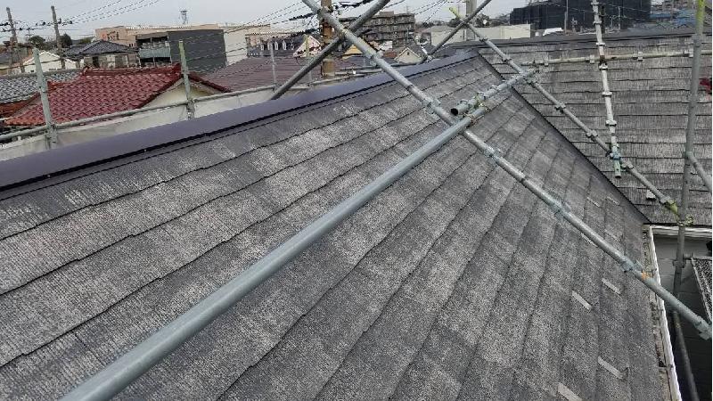 新規屋根板金の設置後の様子