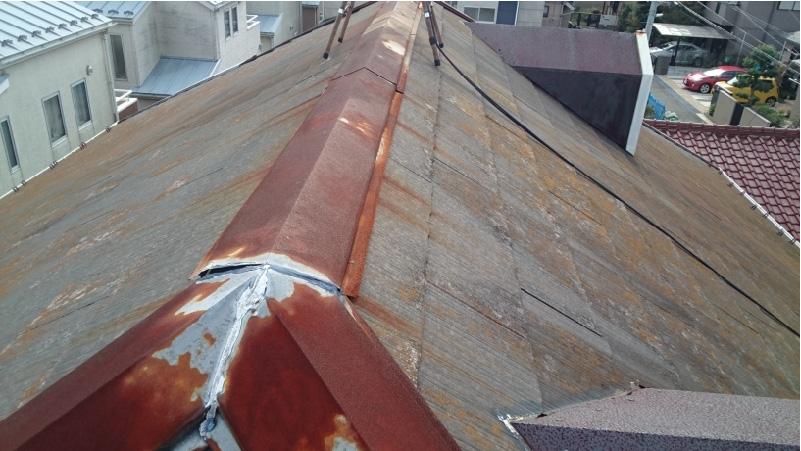 赤錆が発生した屋根板金
