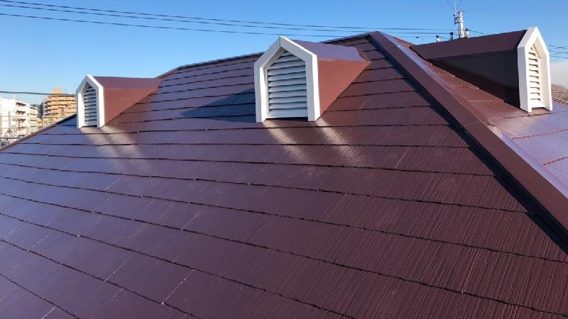 屋根塗装工事後の様子