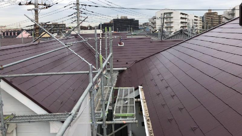 屋根塗装の工事後の様子