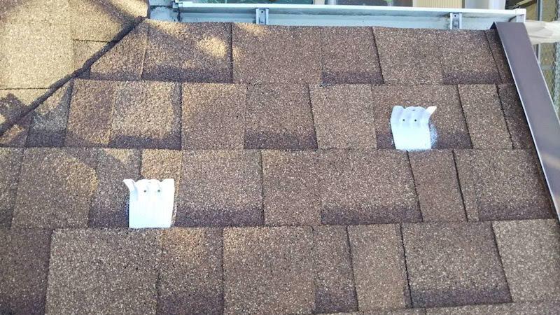 アスファルトシングル屋根の錆止め塗装