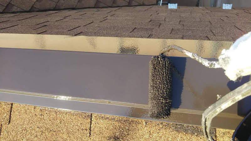 アスファルトシングル屋根の板金塗装