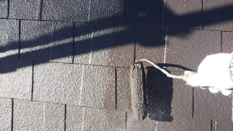 アスファルトシングル屋根の上塗り