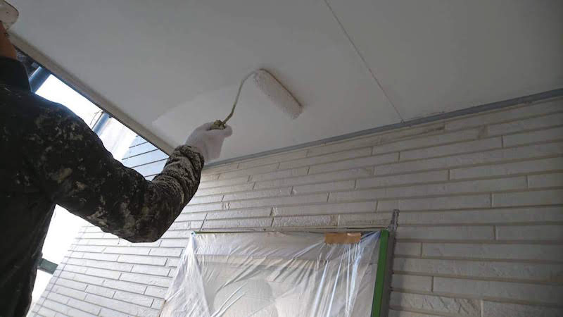 軒天の塗装