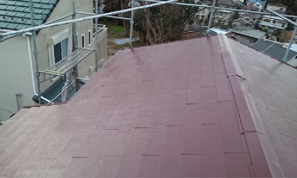 佐倉市の屋根塗装とトタン屋根の葺き替え工事
