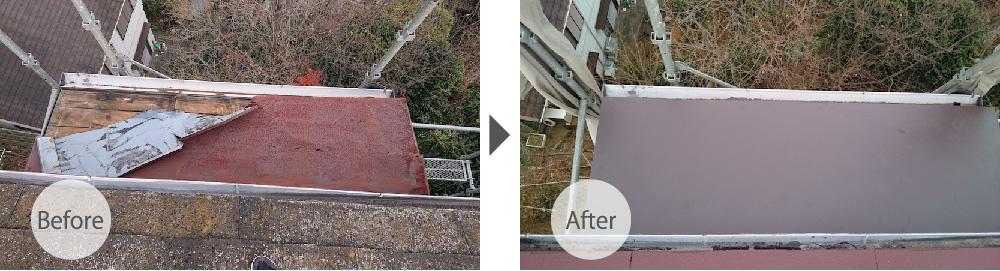 佐倉市の屋根塗装のビフォーアフター