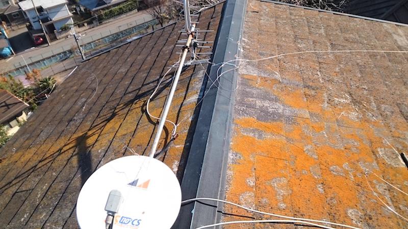 佐倉市の屋根塗装の施工前の状態