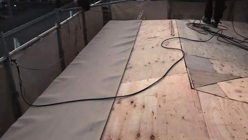 リーフィング(防水シート)の設置