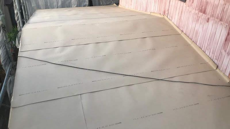 ルーフィングシートの施工