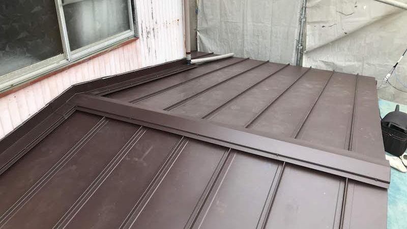 埼玉県八潮市の屋根葺き替え工事施工後の様子