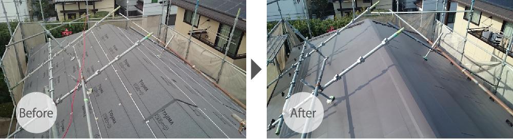 千葉県若葉区の屋根カバー工法