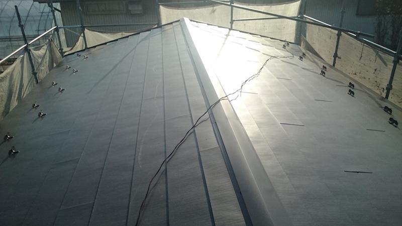 施工後の屋根の状態