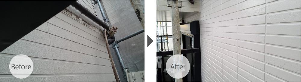 千葉県佐倉市の雨漏り修理のビフォーアフター