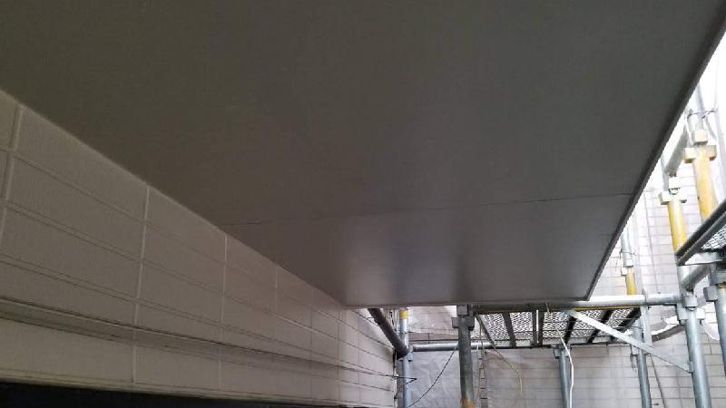 ベランダ軒天の雨漏り修理