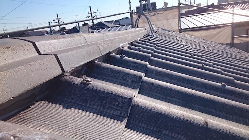 高圧洗浄後の金属屋根材
