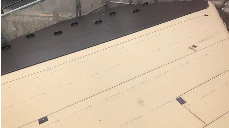 埼玉県八潮市のガルバリウム鋼板の設置