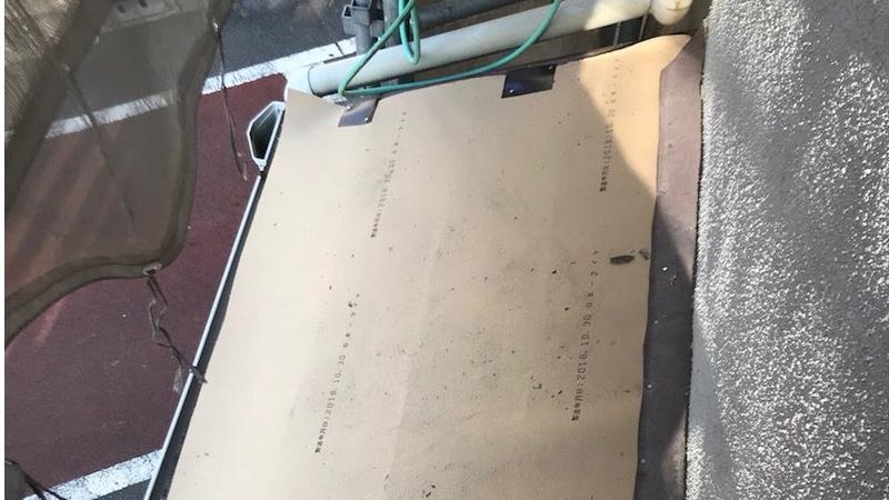 埼玉県八潮市の下屋根のルーフィングの設置