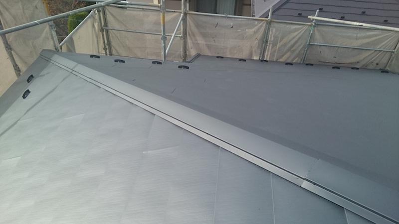 屋根カバー工法施工後の状態