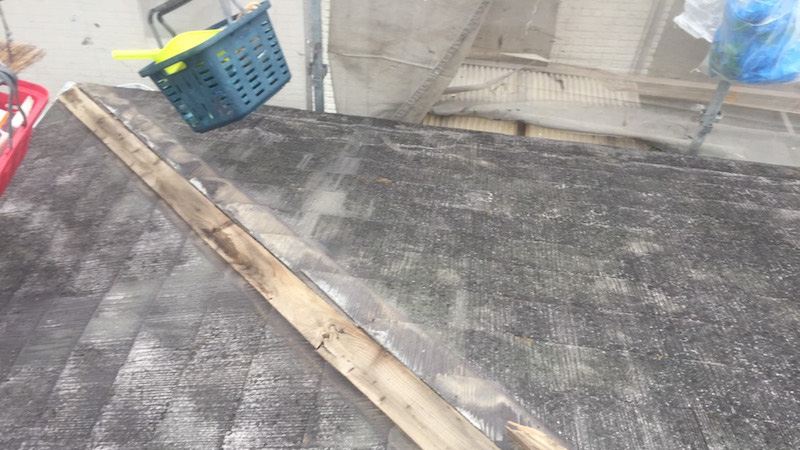 貫板の撤去