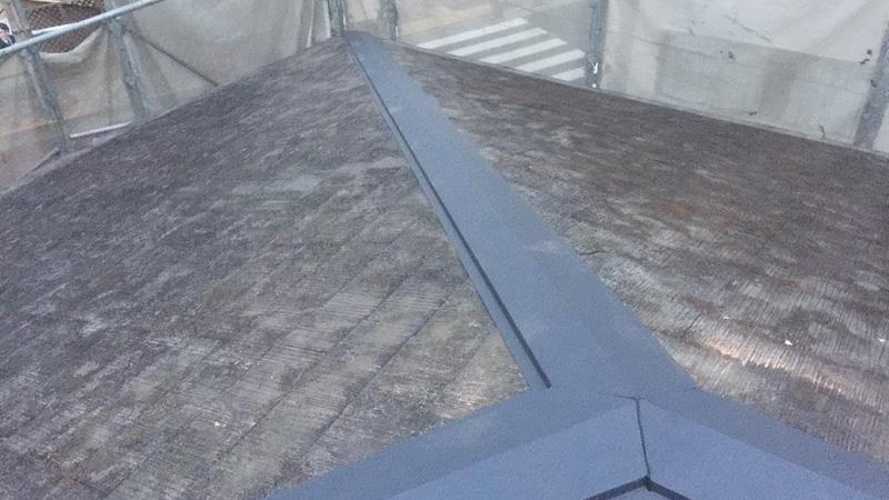 屋根包み板の設置