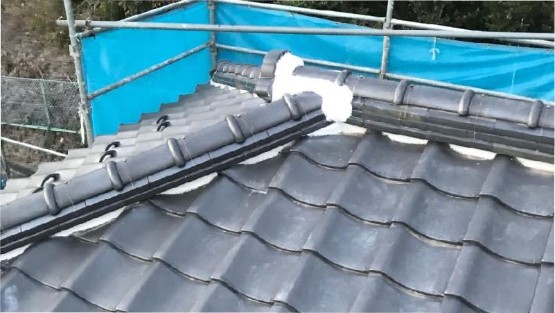 八千代市の屋根葺き直し工事の施工後の様子