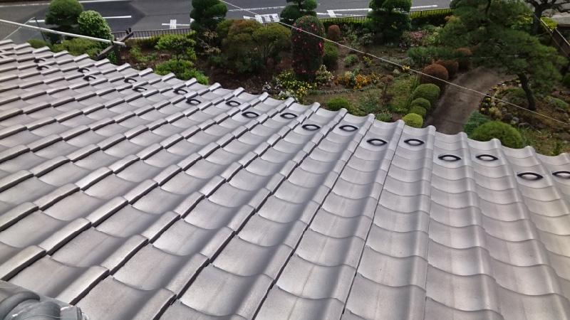 千葉県八千代市の屋根の葺き直し工事の施工前の様子
