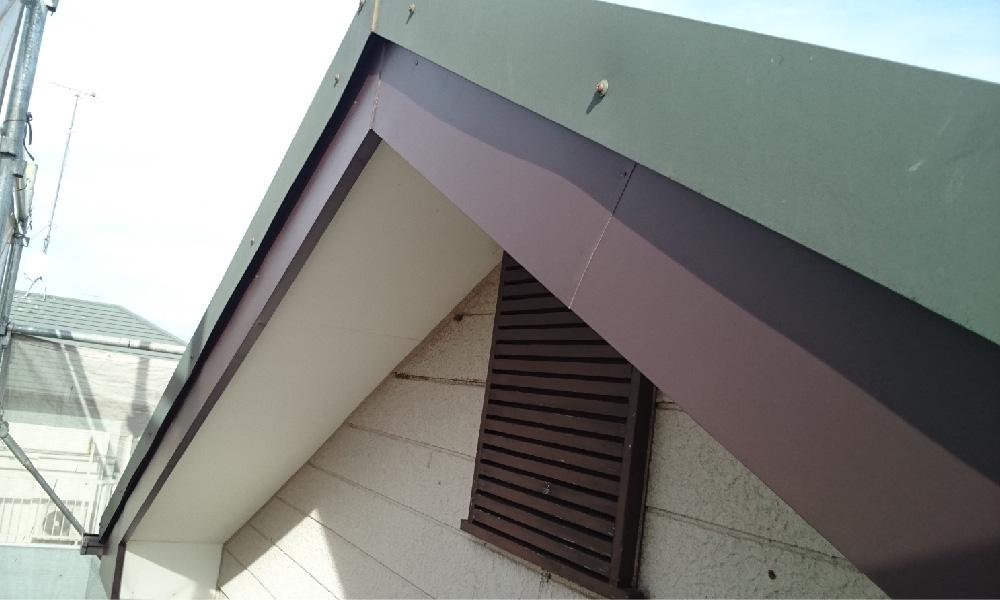 四街道市の破風板板金工事