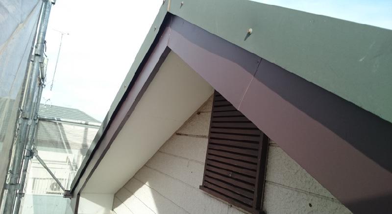 四街道市の破風板修理の施工後の様子