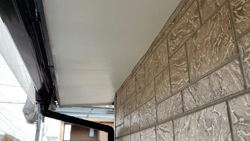 軒天修理の施工後の様子