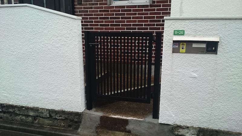 門扉の施工後の様子