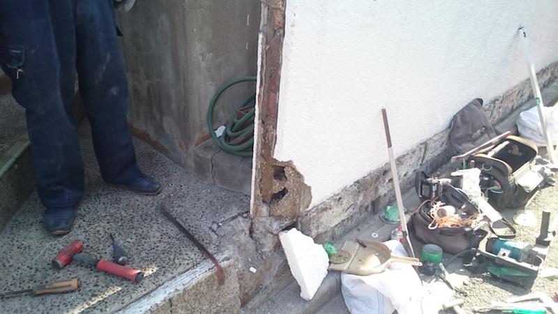 門扉の撤去