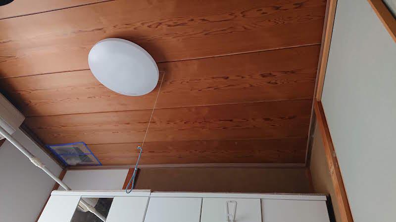 雨漏りの修理の施工前の天井の様子