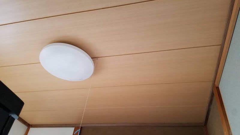 天井の雨漏りの施工後の様子